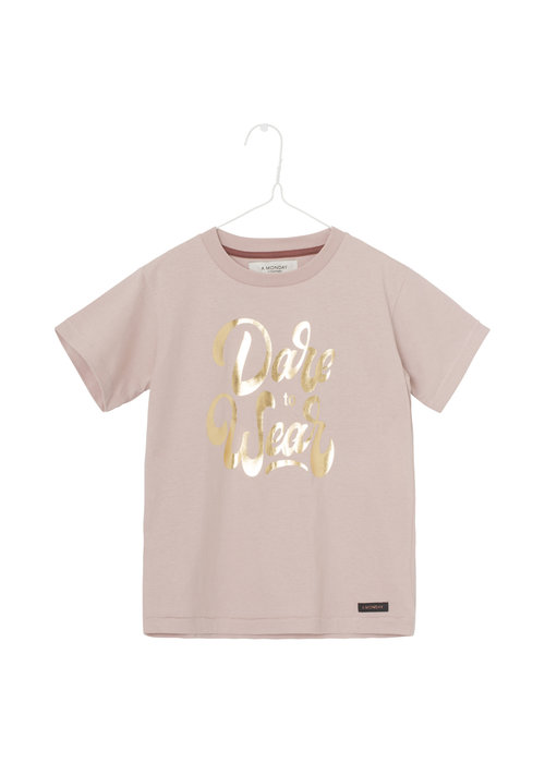 A Monday in Copenhagen A Monday in Copenhagen Dane T-shirt Pale Mauve