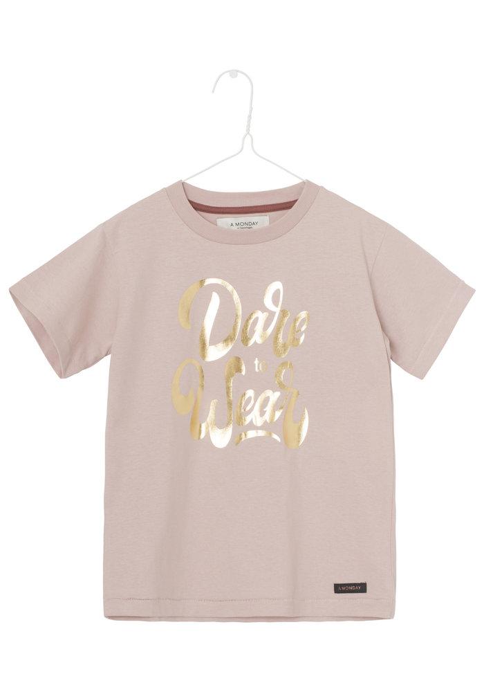 A Monday in Copenhagen Dane T-shirt Pale Mauve