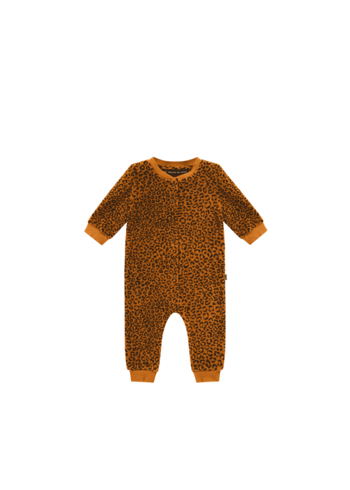 House of Jamie House of Jamie Baseball Jumpsuit Golden Brown Leopard