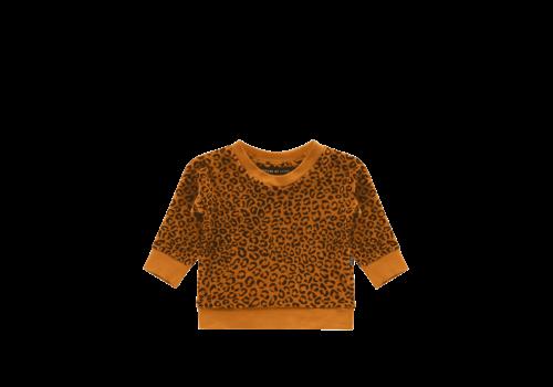 House of Jamie House of Jamie Crewneck Sweater Golden Brown Leopard