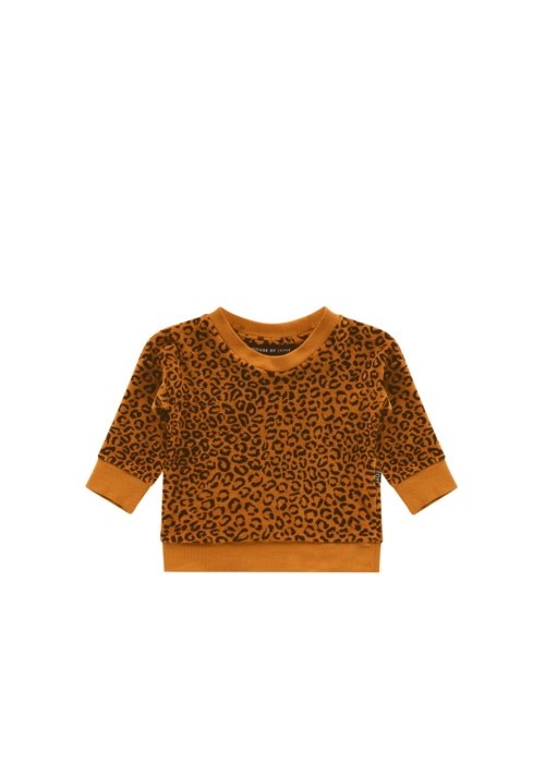 House of Jamie House of Jamie Crewneck Sweater Golden Brown Leopard