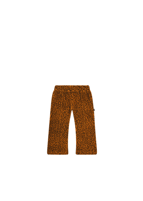 House of Jamie House of Jamie Flared Pants Golden Brown Leopard