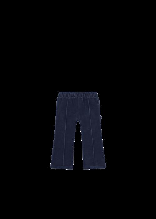 House of Jamie House of Jamie Flared Pants Midnight Velvet Blue
