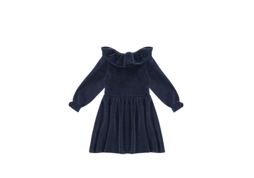 House of Jamie House of Jamie Pierrot Collar Dress Midnight Velvet Blue