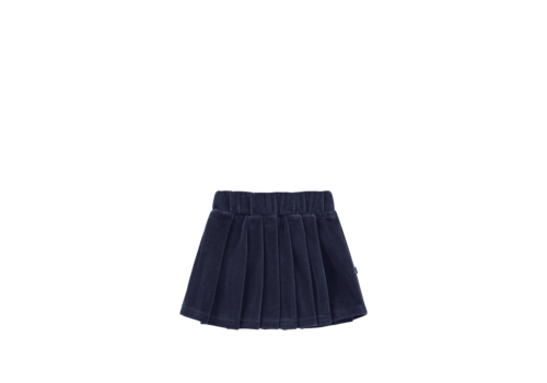House of Jamie House of Jamie Pleated Skirt Midnight Velvet Blue
