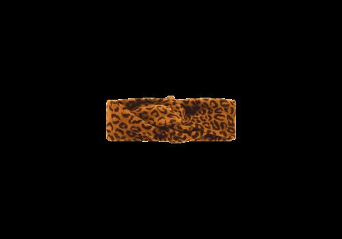 House of Jamie House of Jamie Turban Headband Golden Brown Leopard
