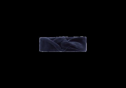 House of Jamie House of Jamie Turban Headband Midnight Velvet Blue