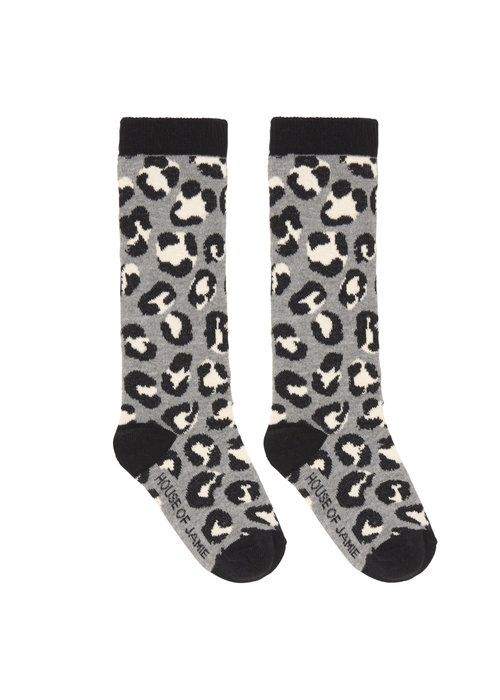 House of Jamie House of Jamie Knee Socks Rocky leopard