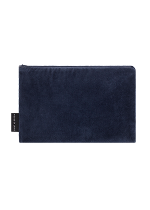 House of Jamie House of Jamie On the Go Clutch Midnight Velvet Blue