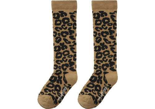 Maed for Mini Maed for Mini Brown Leopard Knee Socks