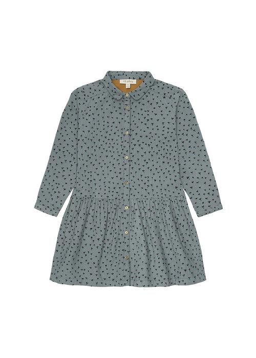 Soft Gallery Edeline Dress Stormy Sea AOP Evergreen
