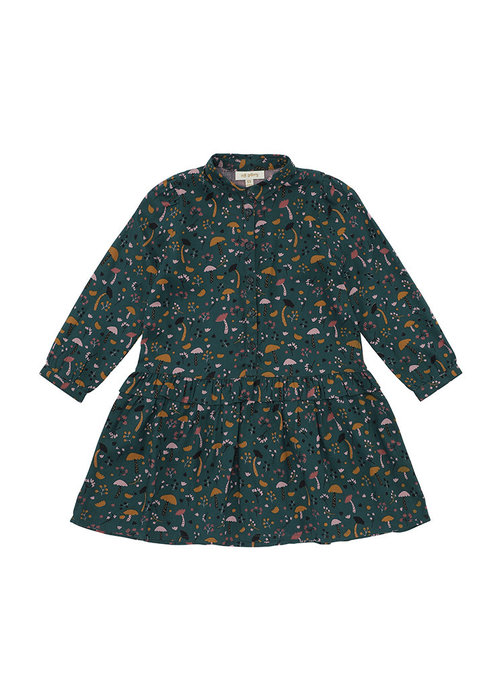 Soft Gallery Soft Gallery Elisabelle Dress Deep Teal AOP Fungi