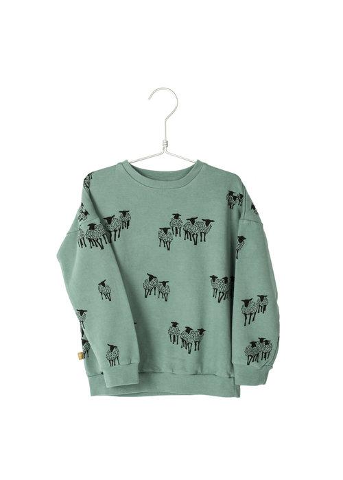 Lötiekids Lötiekids Sweatshirt Sheeps Dark Mint