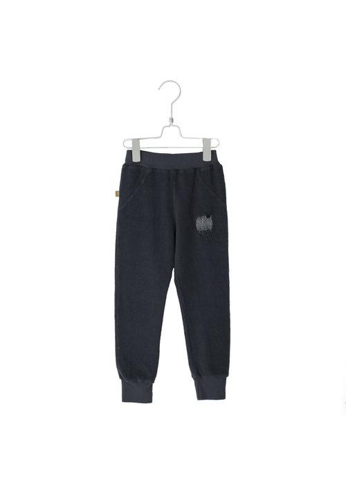 Lötiekids Lötiekids Pants 5-pockets Solid + Embroidery Vintage Black