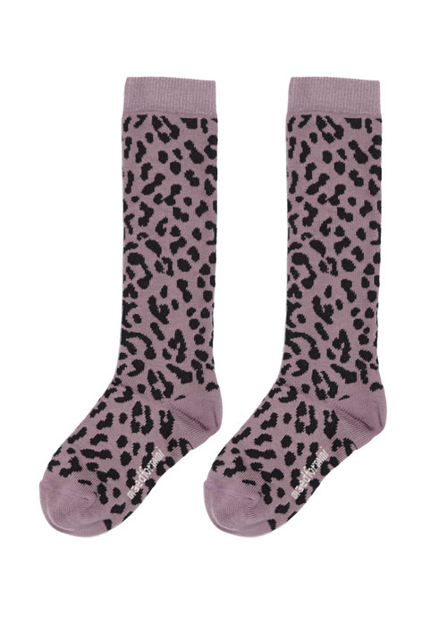 Maed for Mini Maed for Mini Lilac Leopard Knee Socks