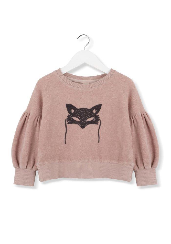 Kids on the Moon Black Fox Mask Sweatshirt