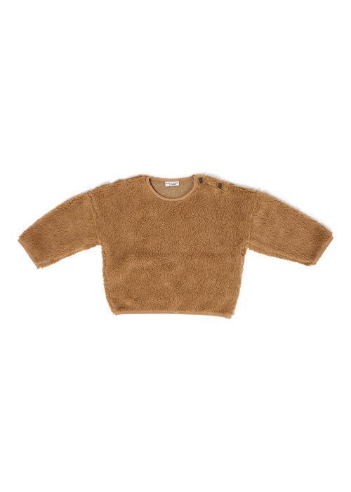 Daily Brat Daily Brat Teddy Oversized Sweater Camel