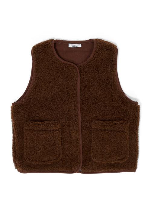 Daily Brat Daily Brat Teddy Vest Walnut