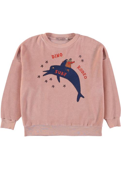 Fresh Dinosaurs Fresh Dinosaurs Sweatshirt Rodeo Surf Peach Nougat