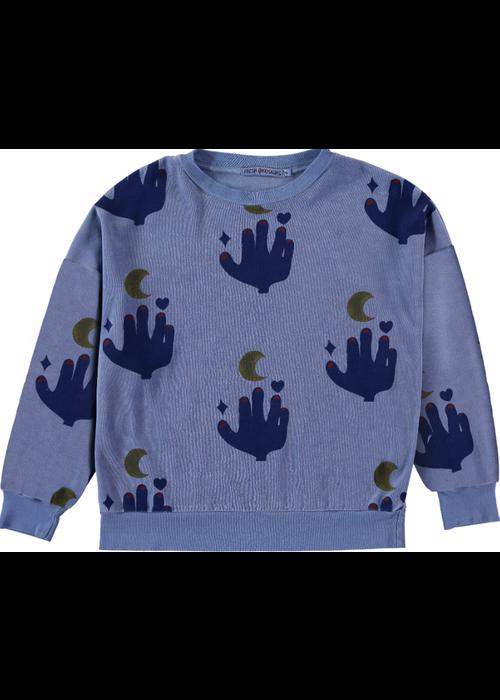 Fresh Dinosaurs Fresh Dinosaurs Sweatshirt Love to the Moon Alaskan Blue