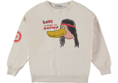 Fresh Dinosaurs Fresh Dinosaurs Sweatshirt Love is the Answer Natural