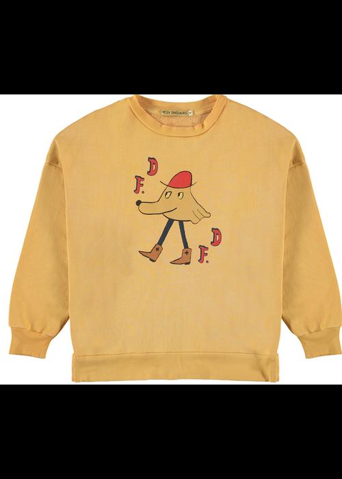 Fresh Dinosaurs Fresh Dinosaurs Sweatshirt FD Rodeo Old Gold
