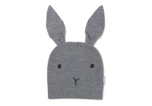 Liewood Liewood Viggo Knit Hat Rabbit Grey melange