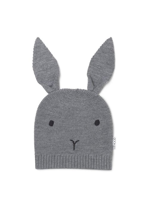 Liewood Liewood Viggo Knit Hat Rabbit Grey melange