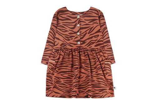 Ammehoela Ammehoela Liesje Dress Tiger Brown