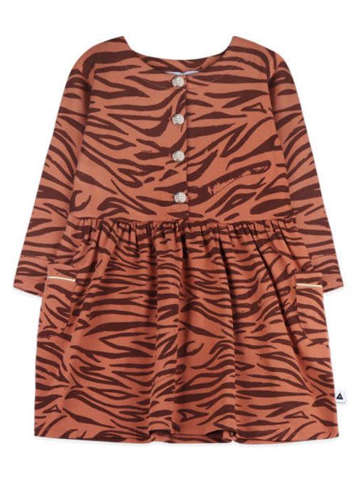 Ammehoela Ammehoela Liesje Dress Tiger Brown