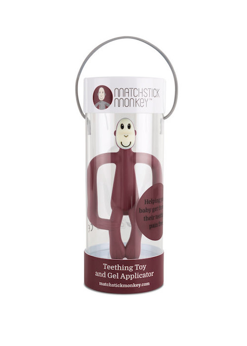Matchstick Monkey Matchstick Monkey Teething Claret Red