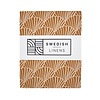 Swedish Linens Swedish Linens SEASHELLS Cinnamon Brown Fitted Baby Bed Sheet 40x80cm