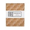 Swedish Linens Swedish Linens SEASHELLS Cinnamon Brown Fitted Crib Sheet 60x120cm