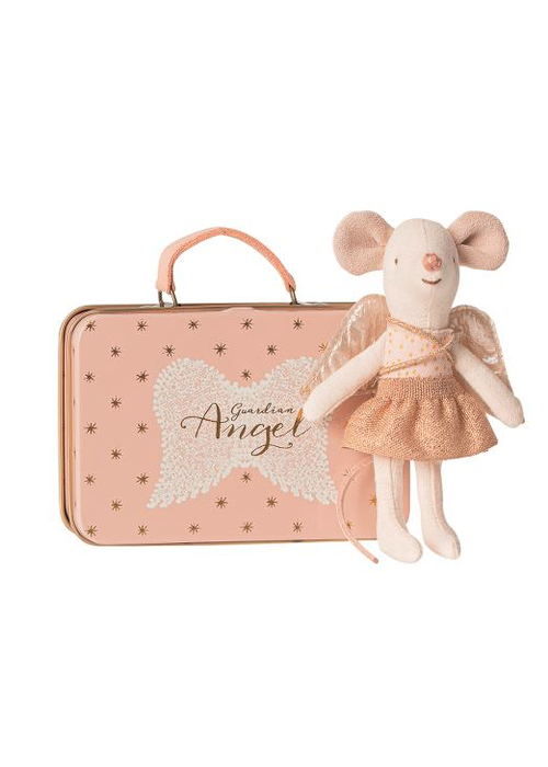 Maileg Maileg Guardian Angel in Suitcase - Little Sister Mouse
