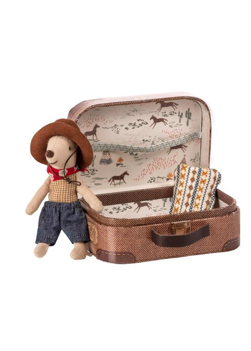 Maileg Maileg Cowboy in Suitcase - Little Brother Mouse