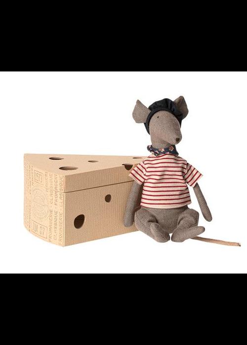 Maileg Maileg Rat in Cheese Box Grey