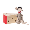 Maileg Maileg Rat in Cheese Box Light Grey