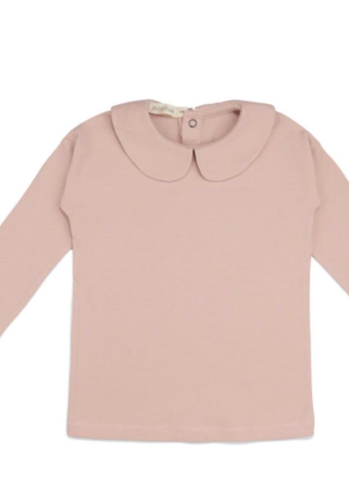 Phil & Phae Kids Collar Tee LS Blush