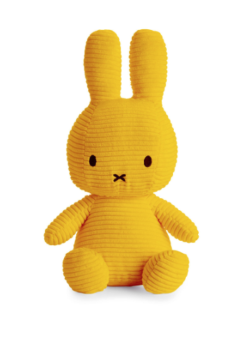 Miffy Sitting Corduroy 33 cm Yellow