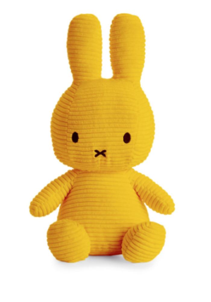 Miffy Sitting Corduroy 33 cm Yellow