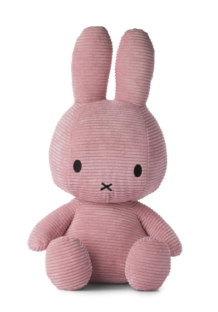 Miffy Sitting Corduroy 50 cm Pink