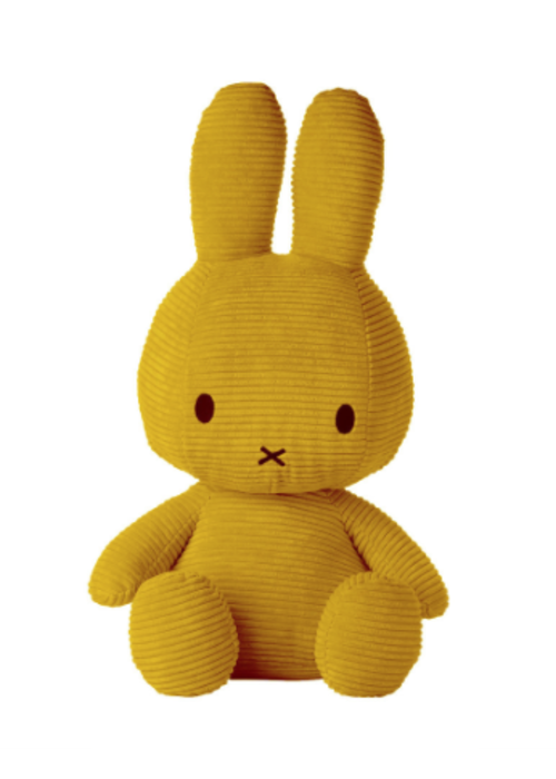 Miffy Sitting Corduroy 50 cm Yellow