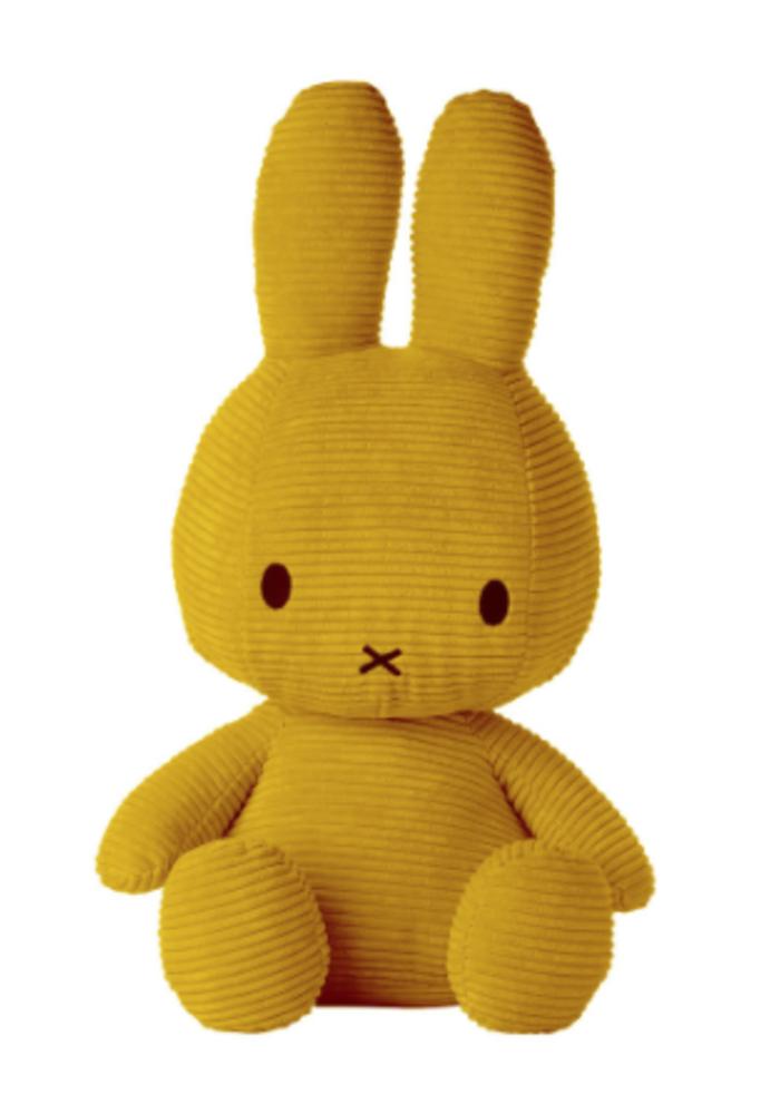 Miffy Sitting Corduroy 50 cm Yellow