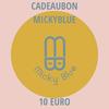 Cadeaubon Micky Blue 10 EURO