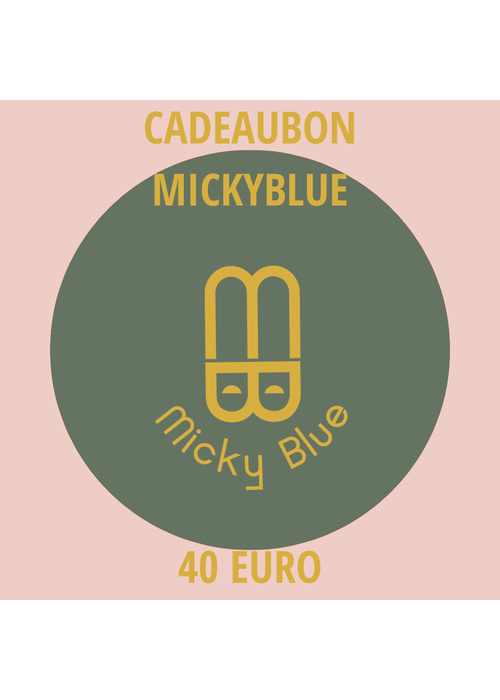 Cadeaubon Micky Blue 40 EURO