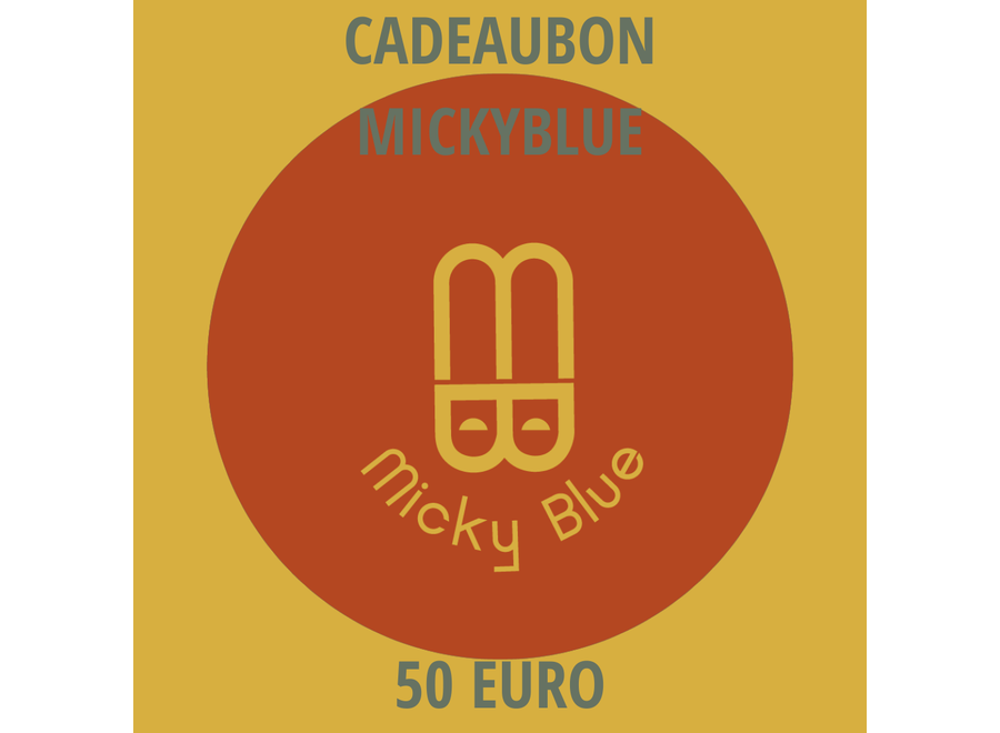 Cadeaubon Micky Blue 50 EURO