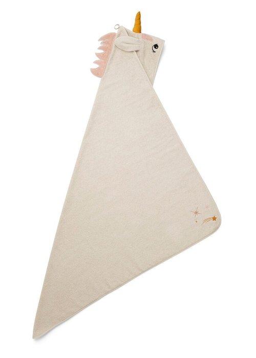 Liewood Liewood Augusta Hooded Towel Unicorn Sandy