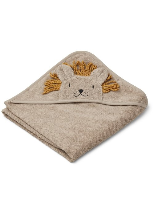 Liewood Liewood Albert Hooded Towel  Lion Stone Beige