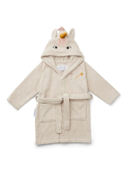 Liewood Liewood Lily Bathrobe Unicorn Sandy
