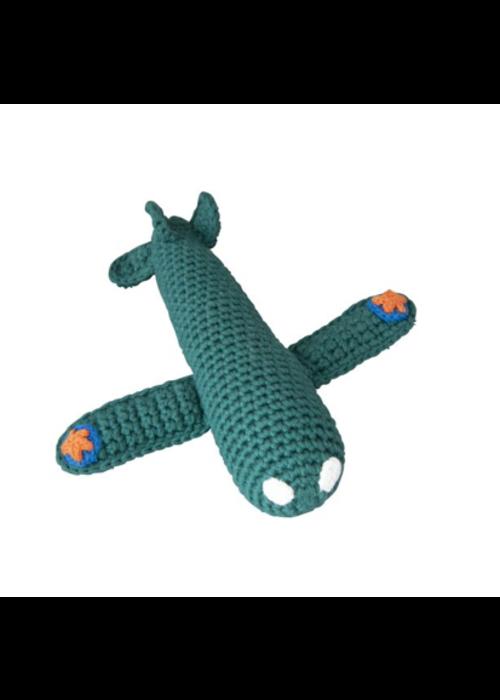 Global Affairs Global affairs Crochet rattle Airplane Petrol